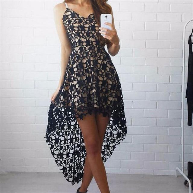 Women Sexy Lace Party Evening Mini Dresses 2018 New Summer Bandage Bodyconrricdress-rricdress
