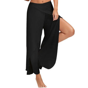 M-XXXXXL 2017 Casual Palazzo Pants Hoge Split Women Wide Leg Pants Summerrricdress-rricdress