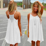 1 Piece Summer Women Fluorescence Beach Dress Female Women Chiffon Dress Plusrricdress-rricdress