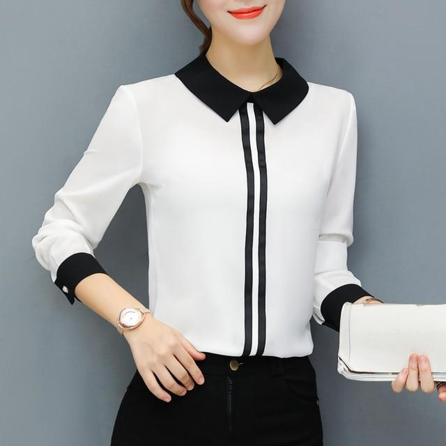 Spring Summer Blouses Women's Tops Office Work Elegant Chiffon Shirts Red Slimrricdress-rricdress