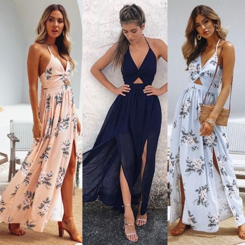 New Hot Selling Women Maxi Long Dress Holiday Summer Evening Party Beachrricdress-rricdress