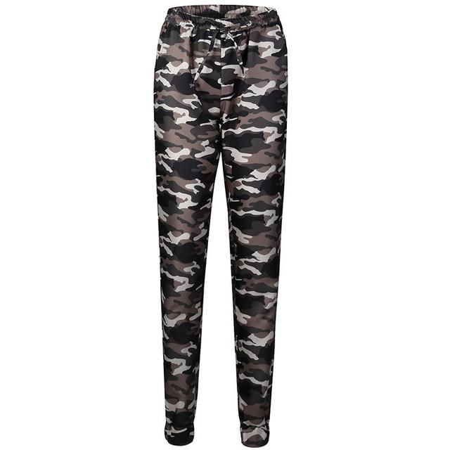 2018 New Fashion Women Camouflage Pants Camo Casual Cargo Joggers rricdress-rricdress