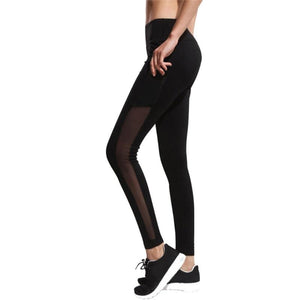 Women Casual Fitness Slim Pants Mesh Plain Elastic Waist Ladies Trousers Summerrricdress-rricdress