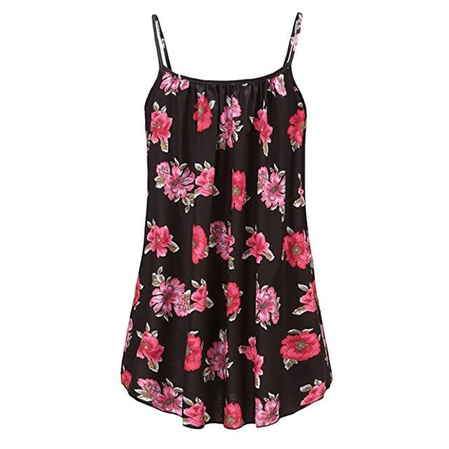 Plus Size 3XL 4XL 5XL 6XL Women Summer Printed Sleeveless Vest Blouserricdress-rricdress