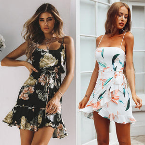 Women Summer Boho Dress Evening Sleeveless Party Beach Dresses Floral Sundress elegantrricdress-rricdress
