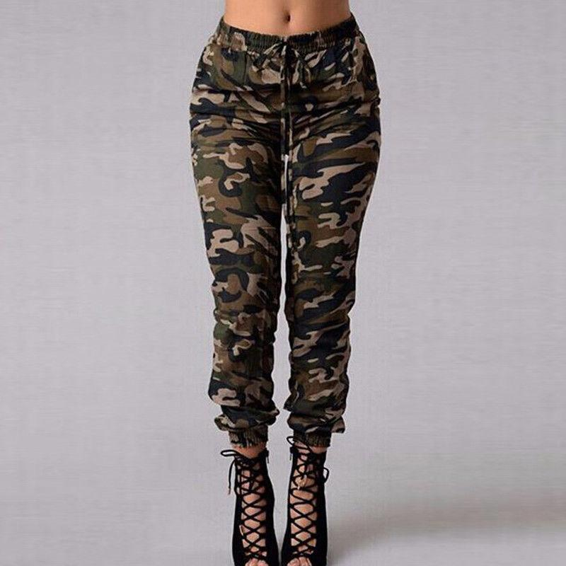 Fashion Womens Camouflage Army Skinny Fit Stretchy Jeans Pants waistband Convergent Ladiesrricdress-rricdress