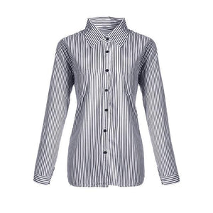 2018 Women Striped Shirts spring Korean style Long Sleeve Female Clothesrricdress-rricdress