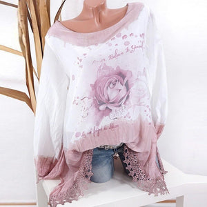 Plus Size 5XL Womens Tops and Long Sleeve Blouses 2018 Streetwear Floralrricdress-rricdress