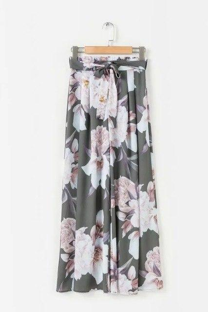 Floral Print Wide Leg Pants 2018 New Long Women Summer Pants Fashionrricdress-rricdress