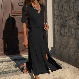 2018 New Fashion Women Casual Long Dress Women Autumn Winter Longrricdress-rricdress