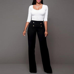 fashion vintage elegant high waist pants women office lady formal party Boot-cutrricdress-rricdress
