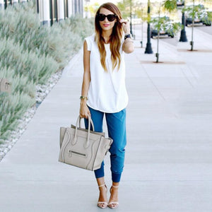 Summer Ladies White Chiffon Blouse Shirt Women Camisas Blusas Feminina Plus Sizerricdress-rricdress