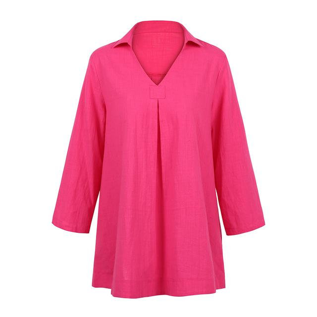 Womens Tops and Blouses tunic female Elegant Ladies Office Work Wear V-Neckrricdress-rricdress