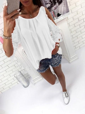 Womens Tops And Blouse Shirt 2018 Summer Top Casual Hollow Outrricdress-rricdress