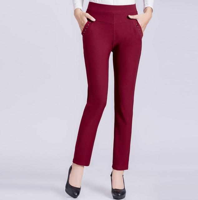 woman trousers stretch pencil pants 2018 spring fall new plus size middlerricdress-rricdress