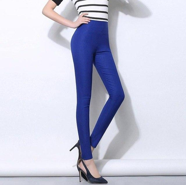 High Waist Pencil Women Pants White Stretch Skinny Long Leggings Black Trousersrricdress-rricdress