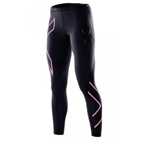 2017 spring Womens pink gold Compression Tights Pants casual Brand female Pantrricdress-rricdress