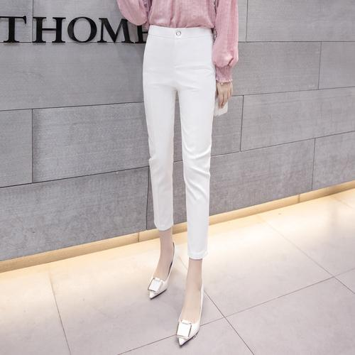 Women's Spring Slim Pencil Pants Female Office Trousers Blue White Blackrricdress-rricdress