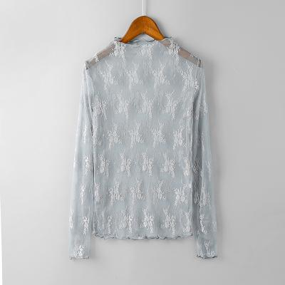 1 Summer Women Lace Floral Embroidery Blouses Shirt Ladies tops Sexy meshrricdress-rricdress