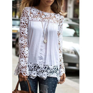 New 2018 Fashion Women Ladies Vintage Chiffion Blouses Shirts Long Sleeve Topsrricdress-rricdress