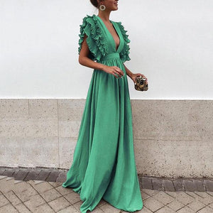 Casual Plus Size Summer Dress Women 2018 Elegant Ruffles Long Partyrricdress-rricdress