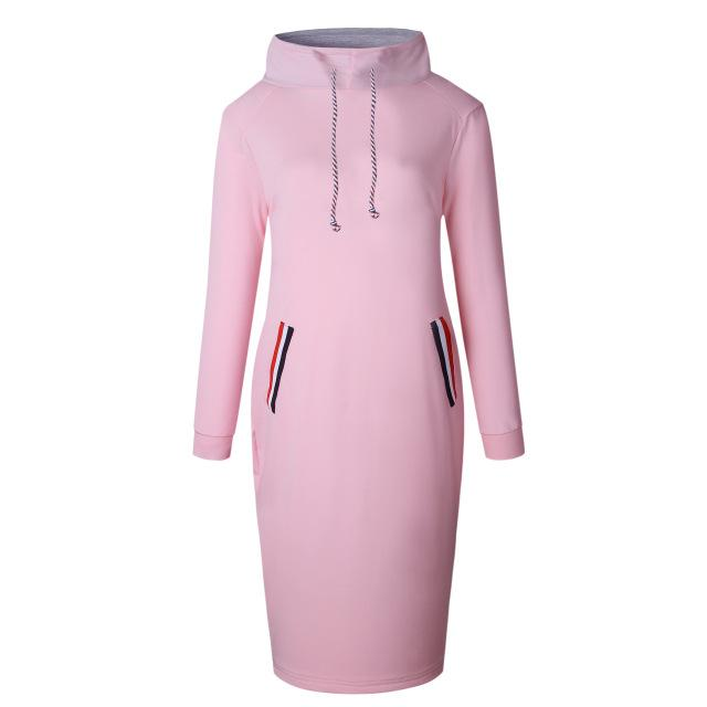 Autumn Winter Women Sexy Pencil Dress Casual Full Sleeve Hooded Drawstring Pulloverrricdress-rricdress