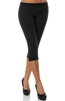 4XL Plus Size Women 3/4 Length Skinny Pants Ladies Casual Cropped Stretchrricdress-rricdress