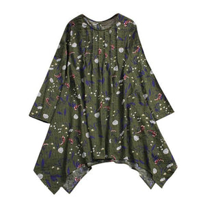 Plus Size 5XL Womens Tops and Blouses 2018 Vintage Floral Print Longrricdress-rricdress