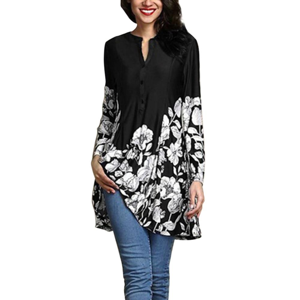 Plus Size 5XL Tops For Womens Tops and Blouses 2018 Vintage Floralrricdress-rricdress