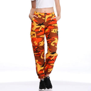 Autumn Camo Pants Cargo High Waist Thick Loose High Rise Casual Womenrricdress-rricdress