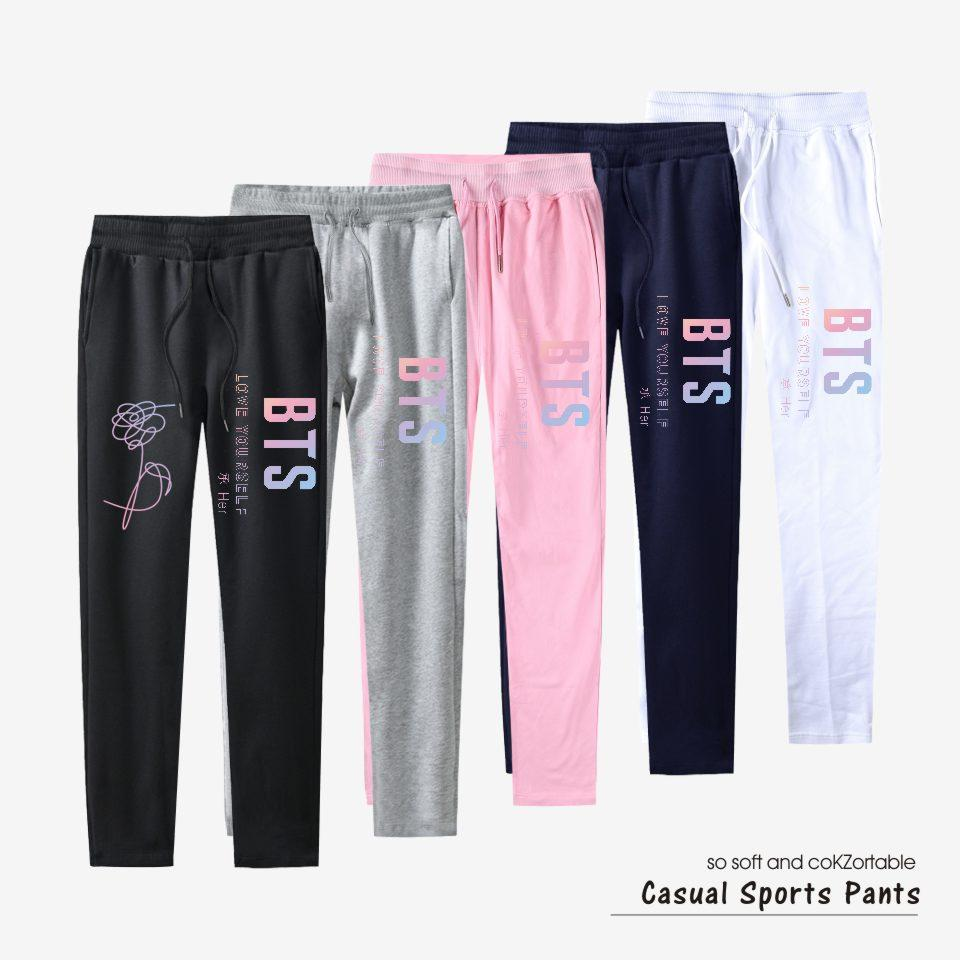 100% Cotton Pants Trousers Casual Style Pants Bangtan Boys Sweatpants Joggerrricdress-rricdress