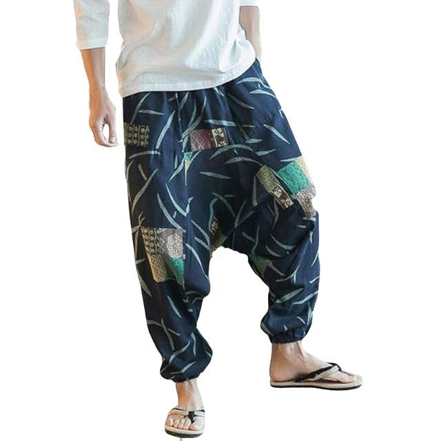 Unisex Loose Casual Drop Crotch Floral Women's Pants 2018 New Joggers Aladdinrricdress-rricdress