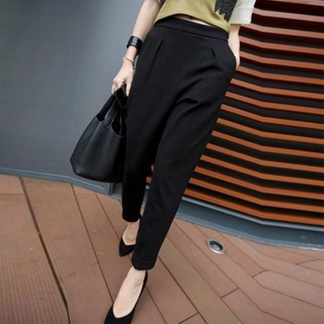Casual Pants Women New Hot Fashion Women Fashion Ankle -Length Trousers Femalerricdress-rricdress