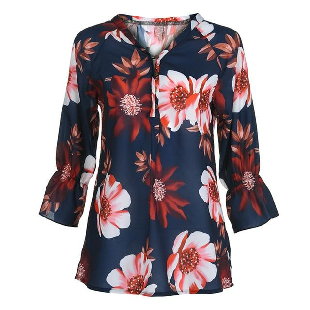 Plus Size 5XL Womens Tops and Blouses Autumn 2018 Button Ladies Toprricdress-rricdress