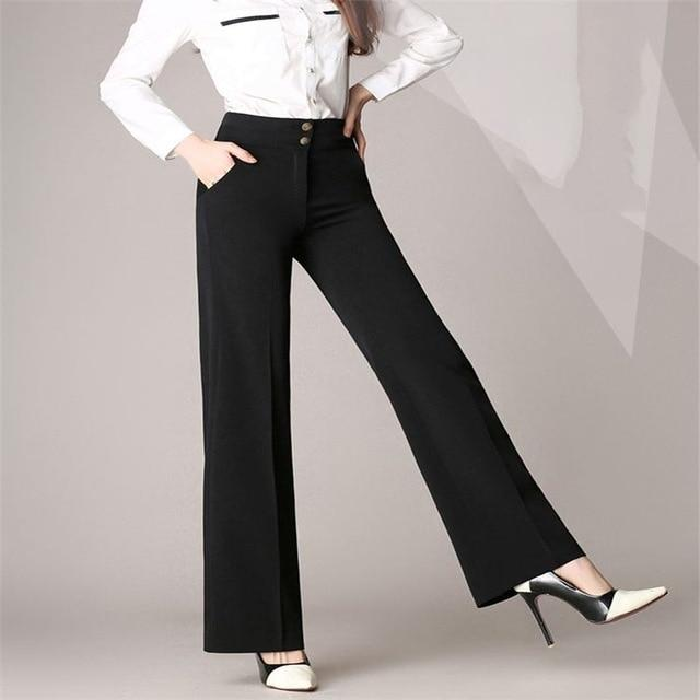 2018 Women New Autumn Fashion Casual Wide Leg Pants Plus Size 4XLrricdress-rricdress