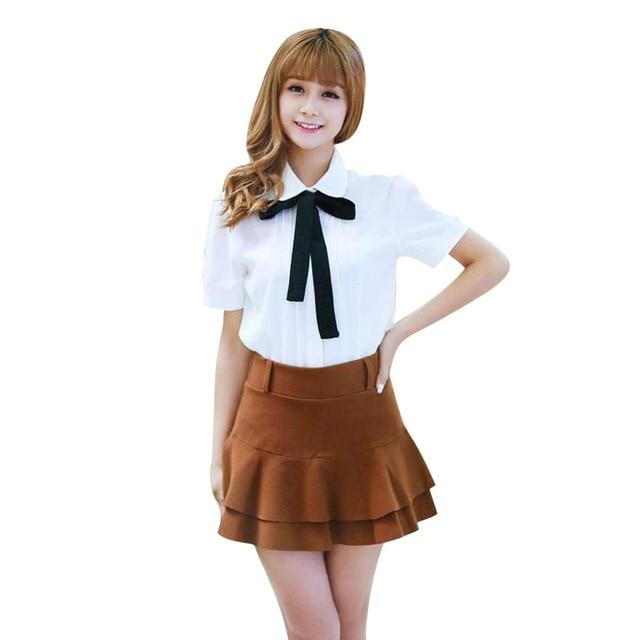 New Arrive Fashion Women Formal Butterfly Collar Slim Long Shirt Lovely Blouserricdress-rricdress