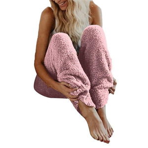 Winter Fleece Legging Pants Women Fur Warm Fitness Elastic Waist Looserricdress-rricdress
