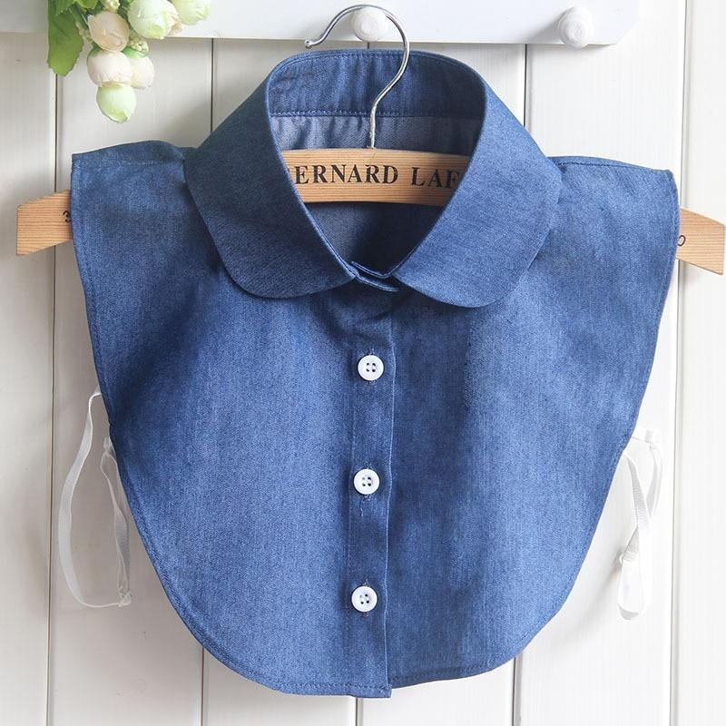 Blue False Collar For Women Jeans Detachable Shirt Collars Accessories Fakerricdress-rricdress