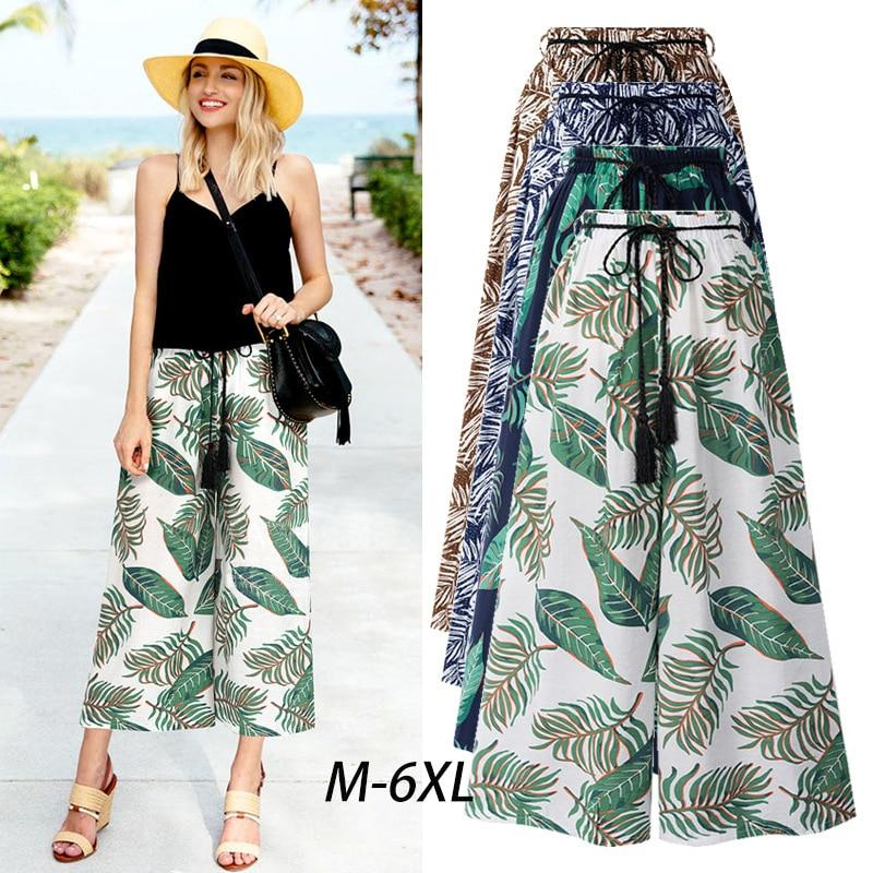 Summer Wide Leg Pants Womens Pants High Waist Loose Straight Ankle-Length Pantsrricdress-rricdress