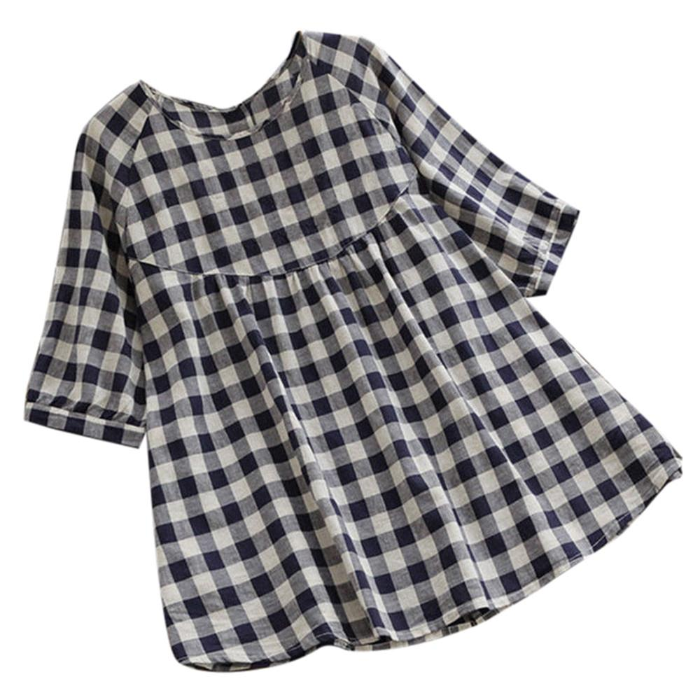 Plus Size 5XL Womens Tops and Blouses Autumn 2018 Plaid Ladies Toprricdress-rricdress