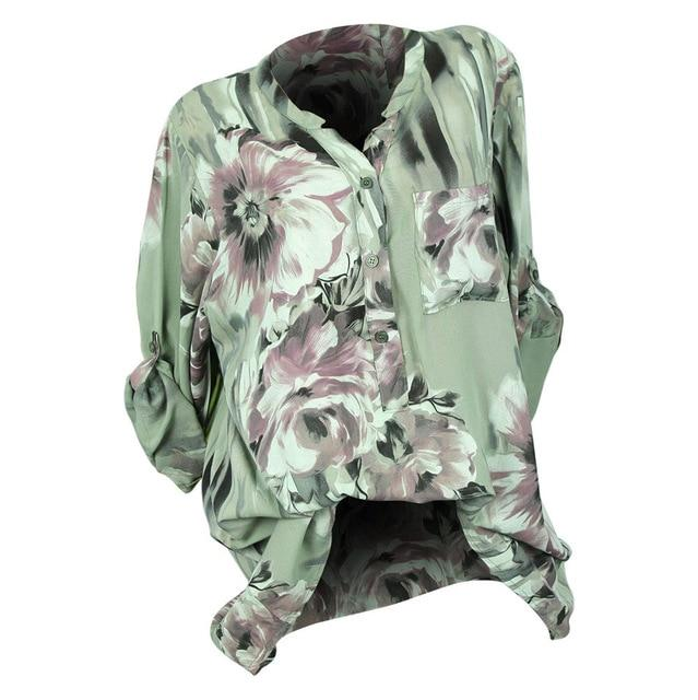 Plus Size 5XL Womens Tops and Blouses Feminine Autumn 2018 Vintage Floralrricdress-rricdress