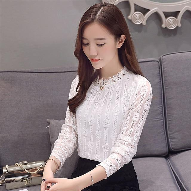 Women clothing New 2018 fashion plus size women's shirts Long sleeve whiterricdress-rricdress