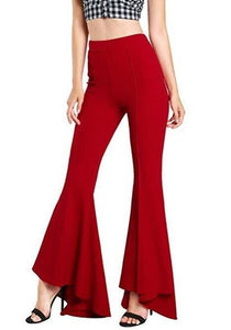 Winter 2018 Ladies Trousers Women High Waist Bell Bottom Pants Flare Pantsrricdress-rricdress