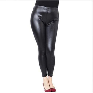 2018 New Hot Women Sexy Leggings Black Hip Wet Look Faux Leatherrricdress-rricdress