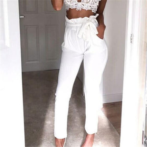 New Women High Waist Pants Women Looks Slim &Skinny Pure Color Trousersrricdress-rricdress