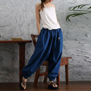 2018 Women Harem Pants High Waist Wide Leg Trousers Casual Looserricdress-rricdress