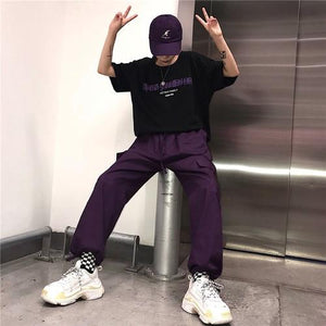 hip hop vintage solid New fashion korean hipster Women's Clothing ulzzang personalityrricdress-rricdress