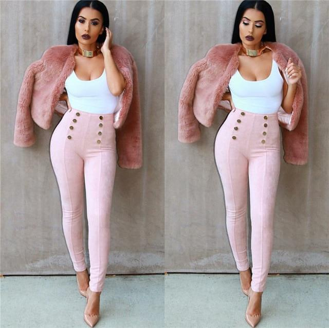 Brand Quality Pencil Pant Sexy Skinny Bodycon Pants Women High Waist Leggingsrricdress-rricdress