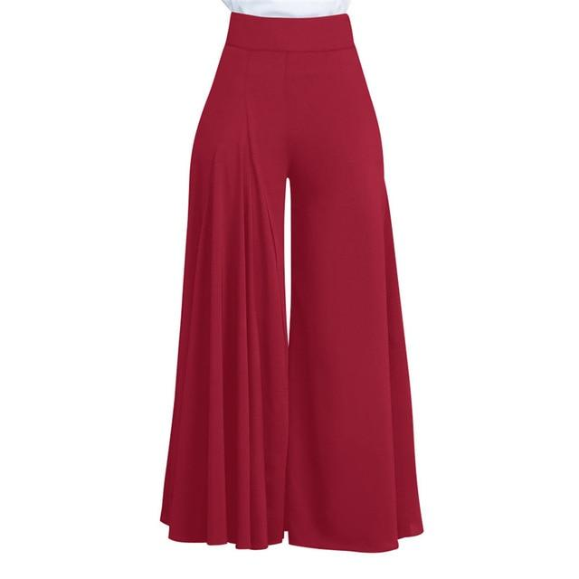 Women Casual Loose Pleated Wide Leg Pants Palazzo Pants Autumn Hight Waistrricdress-rricdress