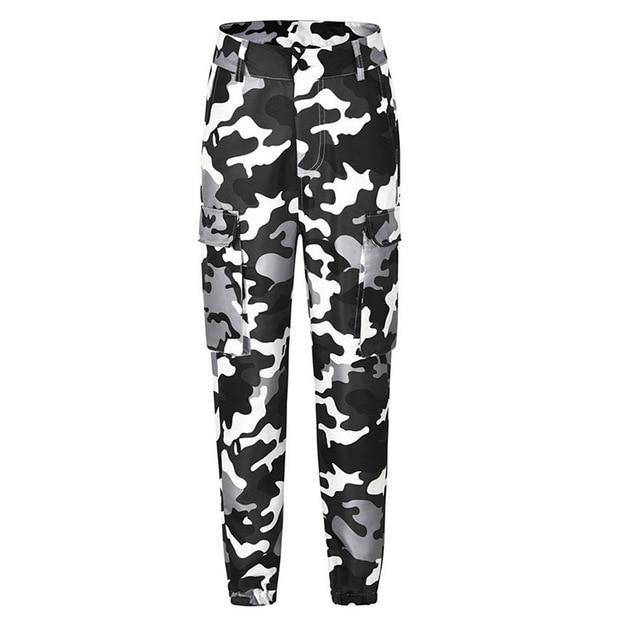 Casual Women High Waist Camouflage Pants 2018 Fashion Female Trouser Ankle-Length Sweatpantsrricdress-rricdress